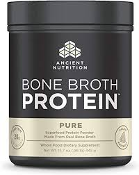 Ancient Nutrition <b>Bone Broth Protein</b>, <b>Pure</b> Flavor - all Natural ...