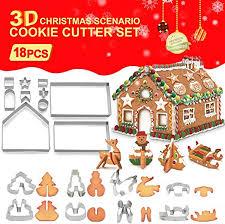 3D Christmas Cookie Cutters (18PCS), Gingerbread ... - Amazon.com