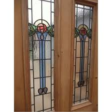 beveled stained glass window panel idea