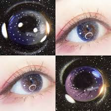 Galaxy <b>Starry Sky</b> Contact Lens Cosmetic Makeup 3 color | Shopee ...