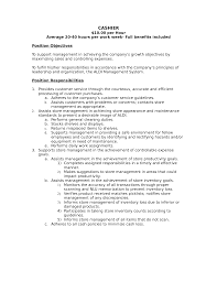 cashier duties examples skills for a cashier resume job sample resume for cashier position