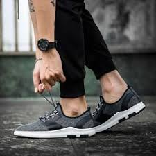 Breathable Leather Mesh <b>Men's</b> Casual <b>Shoes</b> in <b>2019</b> | <b>Sneakers</b> ...