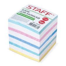 Блок <b>бумаги</b> сменный 90*90*90мм <b>цветной Staff</b> - <b>Канцелярия</b> во ...