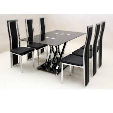 4 chair kitchen table: glass dining table and  chairs sale