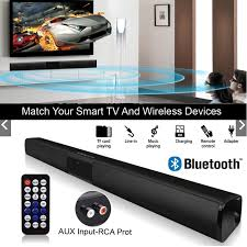 BS28B Bluetooth Speaker Soundbar <b>4</b>-Driver <b>Super Loud</b> Soundbar ...