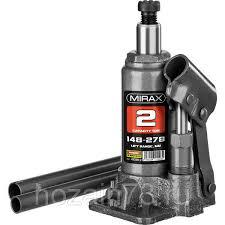 <b>Домкрат</b> гидравлический бутылочный, 2т, 148-278 мм, <b>MIRAX</b> ...