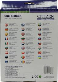 <b>Калькулятор CITIZEN SDC</b>-<b>888XBK</b> — купить в городе ЛИПЕЦК