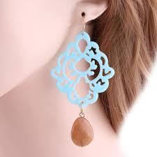Online Shop <b>NeeFu WoFu</b> Drop Resin Earring Natural Stone ...