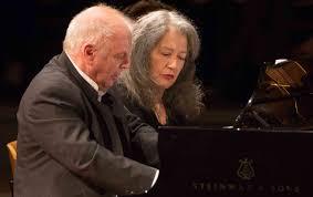 <b>Martha Argerich</b> and Daniel Barenboim at The Berlin Philharmonie ...