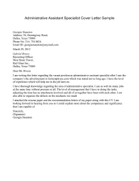 administrative assistant cover letter examples hermeshandbags biz assistant specialist cover letter sample 187 administrative assistant for administrative assistant cover letter
