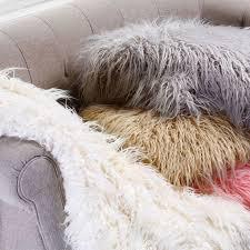 Cynthia Rowlye Mongolian Lamb Faux Fur Throw 50 x 60 Fake ...