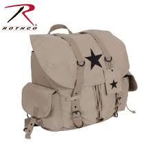 Rothco Vintage Weekender <b>Canvas Backpack</b> with <b>Star</b>