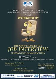how to succeed in a job interview spe ugm sc a job interview