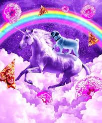 '<b>Rainbow Pug</b> In Space Riding A Unicorn' Poster by SkylerJHill ...