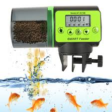 <b>LCD Electronic Automatic</b> Fish Feeder Dispenser Timer Automatic ...