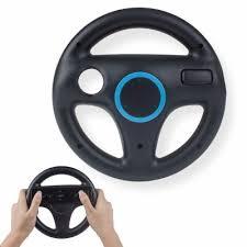 Black White Game Machine Steering Wheel Wii U Racing Game ...