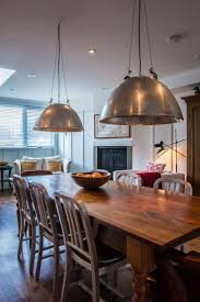 dining room table plans shiny: cladding plus shiny large low hanging lamps plus grey chairs and wooden tables diy this dining room