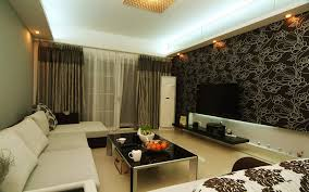 living room with bed:  design a room with white sofa and black glass table mug and curtain and