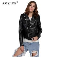 AMSIIKE Autumn <b>Genuine Leather</b> Jacket <b>Women Sheepskin</b> Coat ...