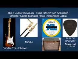 TEST <b>Guitar</b> Cables <b>Analysis Plus</b> & Monster Fender Eric Johnson ...