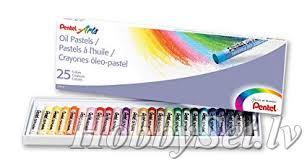 <b>Набор</b> масляных мелки <b>PENTEL</b> 25 цветов   HobbySet