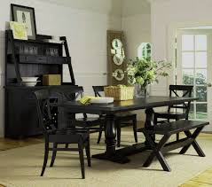 pottery barn style dining table: black dining room table david raymond design