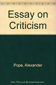 essay on criticism alexander pope com books