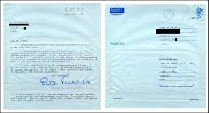 dame eva turner interview bruce duffie two of the letters she sent me when arranging the interview the first is an aerogramme a single page which folds up the message on the inside