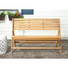 outdoor acacia patio bench luca natural brown acacia wood folding patio bench