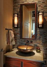 luxurious powder room designs and ideas transitional powder room decor and cool wall lights design and classic washbowl and black mod and simple faucet bathroom lighting ideas pinterest