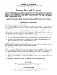 Resume Financial Analyst  finance manager resume examples  project     happytom co