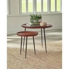 Ivy Bronx Nesting Table Cinnamon/Gunmetal | Wayfair