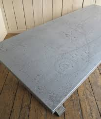 images zinc table top: metal zinc table top with nailed detailing made to measure refectory style table with hard wearing top
