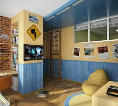 themed kids room designs cool yellow: interior appealing kids boy room decorated with car motif themes