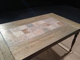 Custom Wood Dining Room Tables Custom Table For The Big Stage Tile Table Using Pine Legs Osborne