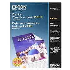 """<b>Epson</b> Premium Presentation <b>Paper Matte</b>, <b>Double</b>-<b>Sided</b> (8.5"""" x 11 ..."""