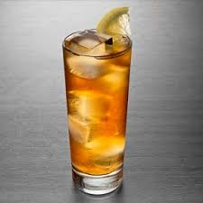 a big glass of an  iced tea cocktail