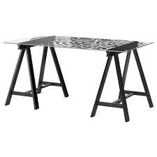 glasholm oddvald table ikea black ikea glass top desk