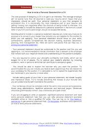 cover letter example of personal statement for resume examples of cover letter personal statement for retail resume management personal examplesexample of personal statement for resume extra