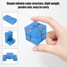 <b>Aluminum Alloy</b> Handheld Fidget Toys Infinity Desk <b>Magic Cube</b> ...