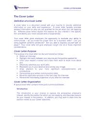 define cover letter template define cover letter