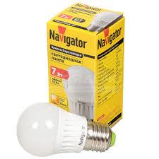 <b>Лампа светодиодная Navigator</b> 94 467, 7 Вт Е27 теплый белый ...