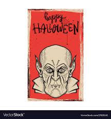 Flyer template <b>halloween</b> party <b>evil vampire</b> on Vector Image