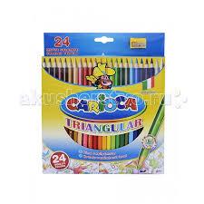 <b>Carioca Набор</b> карандашей TRIANGULAR 24 цвета + точилка ...