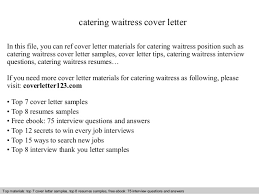 cover letter waitress cover letter examples for waitress