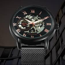 <b>FORSINING</b> Top Brand Luxury Mechanical <b>Watch Men</b> Mesh Strap ...