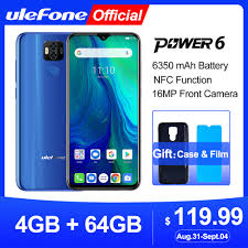 <b>Ulefone power 6</b> Smartphone Android 9.0 Helio P35 Octa core ...