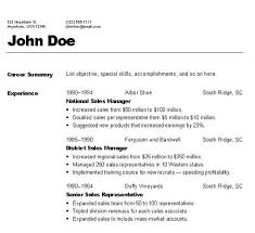category a resume format