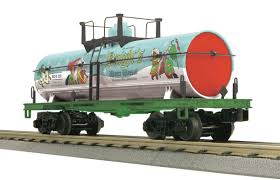 product search mth electric trains knight s winter wassail smoking tank car knight s winter wassail no