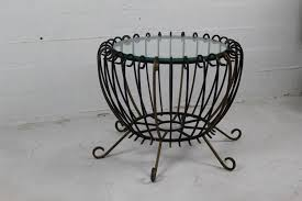 Iron Coffee Tables Vintage Wrought Iron Coffee Table For Sale At Pamono